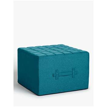 House by John Lewis Kix Single Sofa Bed with Foam Mattress, Karl Teal (H41 x W60 x D60cm)