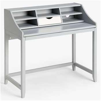 House by John Lewis Loft Desk, Grey/White (H95 x W105 x D52cm)