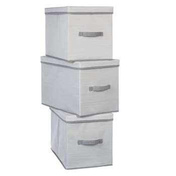 House by John Lewis Mix It Large Storage Boxes, Set of 3 (H33 x W29 x D50cm)