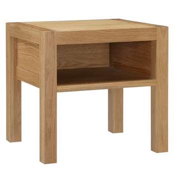 House by John Lewis Ollie Bedside Table, Oak (Width 45cm)