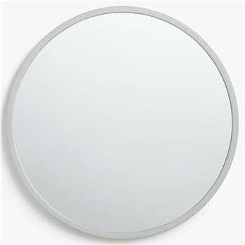 House by John Lewis Round Edge Mirror, Grey (Diameter 76cm)