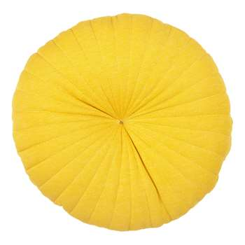 House by John Lewis Round Jersey Cushion, Mustard Yellow (Diameter 40cm)