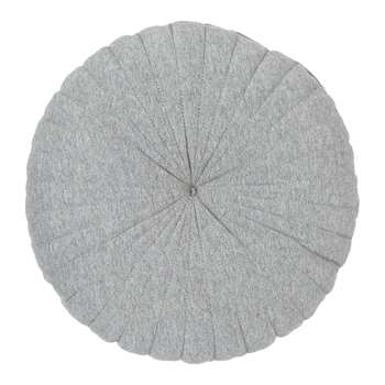 House by John Lewis Round Jersey Cushion, Steel (Diameter 40cm)