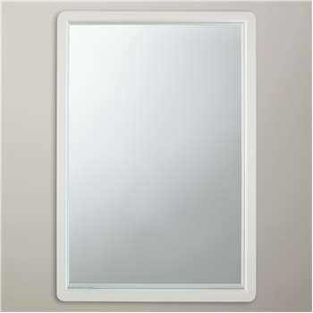 House by John Lewis Rounded Mirror, White (75 x 50cm)