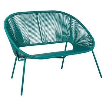 House by John Lewis Salsa 2-Seater Garden Sofa, Palm (H81.5 x W117 x D67.2cm)