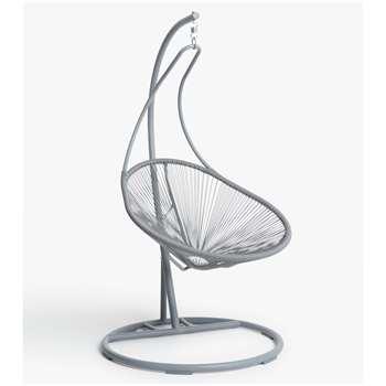 House by John Lewis Salsa Garden Swing Seat, Storm Grey (H190 x W123 x D95cm)