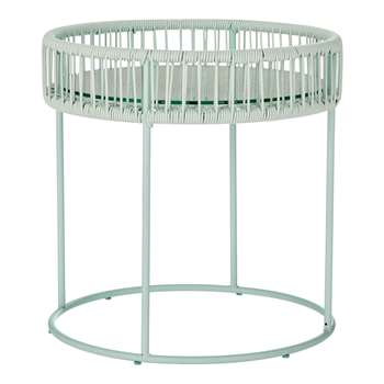 House by John Lewis Salsa Outdoor Side Table, Mint (45 x 50cm)