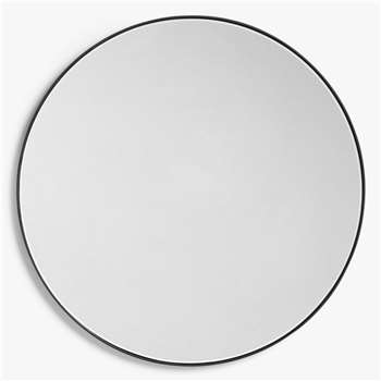 House by John Lewis Small Round Mirror, Black (Diameter 50cm)