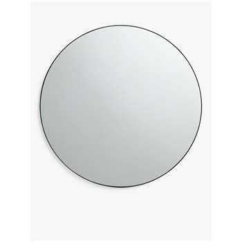 House by John Lewis Small Round Mirror, Black (H81 x W81 x D4cm)