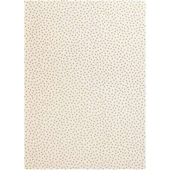House by John Lewis Spot Wallpaper, Gold