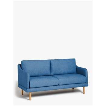 House by John Lewis Sweep Small 2 Seater Sofa, Light Leg, Saga Ocean (H83 x W130 x D80cm)