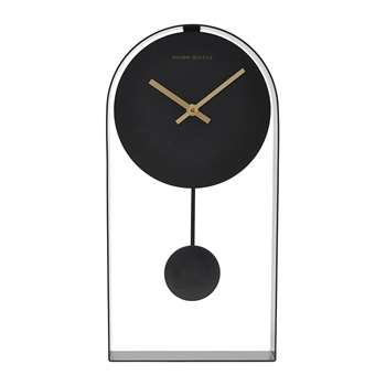 House Doctor - Black Art Clock (H39.5 x W19 x D5.5cm)