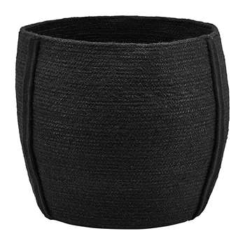 House Doctor - Drum Basket - Black (H35 x W40 x D40cm)