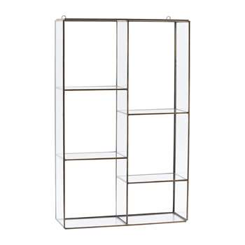 House Doctor - Hanging Wall Storage Unit - 6 Compartments (52 x 33cm)