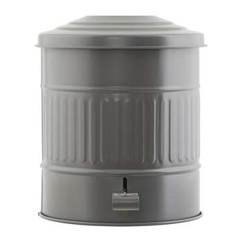 House Doctor - Metal Waste Bin - 15L - Matt Grey (H30 x W25.5 x D25.5cm)