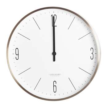 House Doctor - Wall Clock - Gold/White (30 x 30cm)