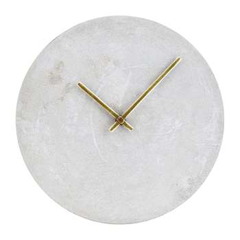 House Doctor - Watch Wall Clock - Concrete (H28 x W28cm)