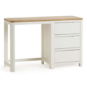 Hove Natural Oak & Painted Dressing Table (H77 x W120 x D43cm)