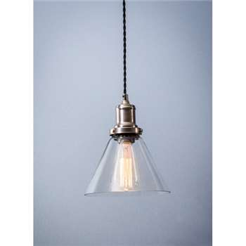 Hoxton Cone Pendant Light - Glass (19 x 18.5cm)