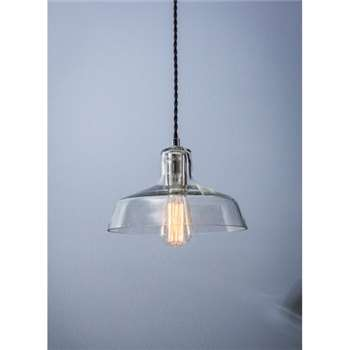 Hoxton Pendant Light - Glass (15 x 24cm)