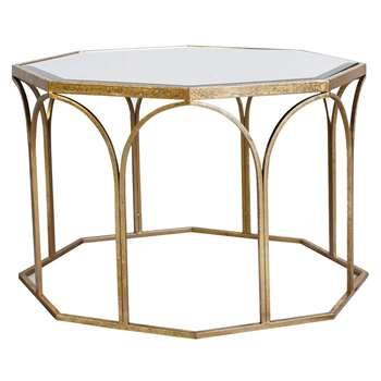 Hudson Living Canterbury Mirrored Glass Coffee Table (H50 x W80 x D80cm)