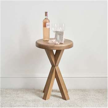 Hudson Round Side Table (H60 x W40 x D40cm)