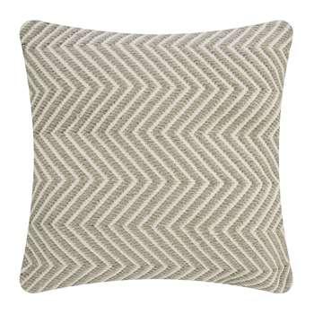 Hug Rug - Herringbone 100% Recycled Cushion - Natural (H45 x W45cm)