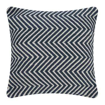 Hug Rug - Herringbone 100% Recycled Cushion - Navy (H45 x W45cm)
