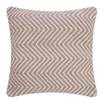 Hug Rug - Herringbone 100% Recycled Cushion - Rose (H45 x W45cm)