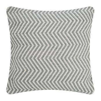Hug Rug - Herringbone 100% Recycled Cushion - Sky Grey (H45 x W45cm)