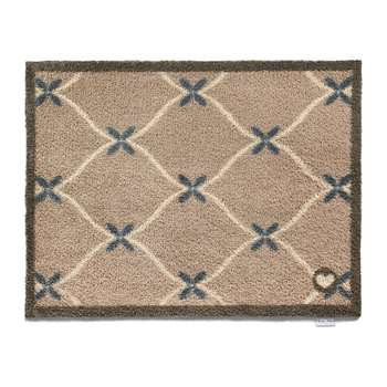 Hug Rug - Small Flowers Washable Recycled Door Mat (H65 x W85cm)