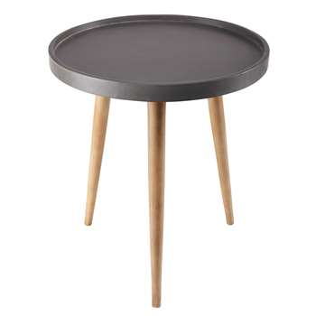 HUGO imitation cement side table (46 x 40.5cm)