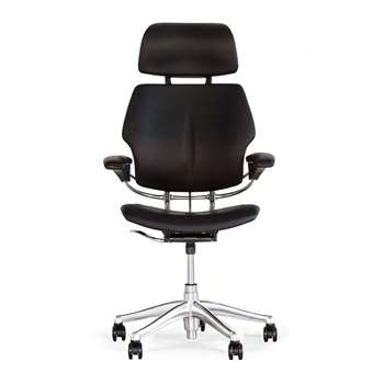 Humanscale - Freedom Headrest Office Chair - Black Leather (85-105 x 69cm)