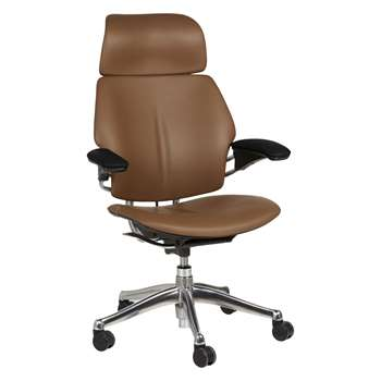 Humanscale Freedom Office Chair with Headrest, Tan (H109 x W69 x D41.5cm)