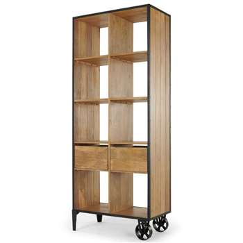 Humphrey Shelving Unit with Storage, Mango Wood (H187 x W76 x D40cm)