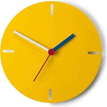 Huxley Wall Clock, Matt Yellow (31 x 31cm)