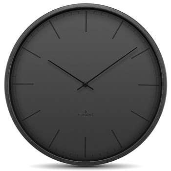 Huygens - Tone Silent Wall Clock - Black Index (Diameter 25cm)