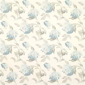 Hydrangea Duck Egg Floral Wallpaper