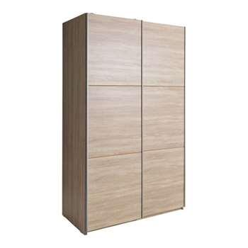 Hygena Bergen 2 Door Small Sliding Wardrobe - Oak Effect 200 x 120cm