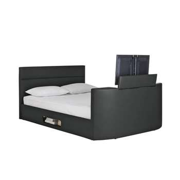 Hygena Gemini Super Kingsize TV Bed Frame - Black