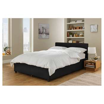 Hygena Lavendon Small Double Ottoman Bed Frame - Black