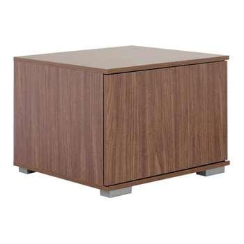 Hygena Modular Base TV Unit - Walnut/Graphite