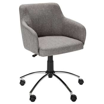 Hygena - Sasha Height Adjustable - Office Chair - Grey (89 x 49cm)