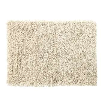 HYGGE Shaggy Wool and Cotton Rug in Ecru (H140 x W200 x D2cm)
