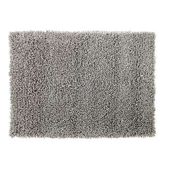 HYGGE Shaggy Wool and Cotton Rug in Grey (H140 x W200 x D2cm)