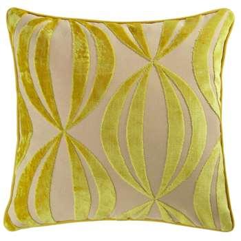 HYPNOSIS yellow cushion (45 x 45cm)