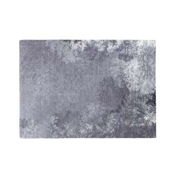 HYPPOLITE - Grey Rug with Nature Print (H140 x W200 x D2cm)