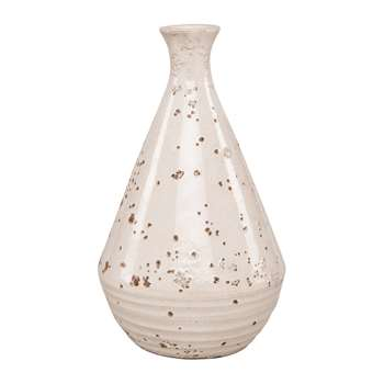 Ian Snow - Angora Earthenware Vase - White (H28 x W17 x D17cm)