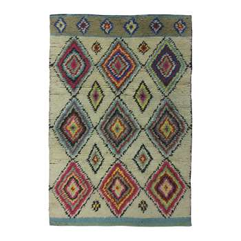 Ian Snow - Diamond Shaggy Wool Rug (H180 x W120cm)