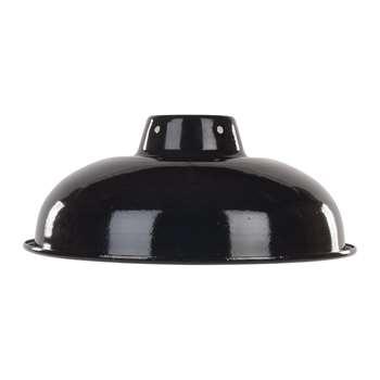 Ian Snow - Enamelled Lampshade - Black (H10 x W25.5 x D25.5cm)